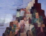 還る塔  182.0×227.5cm 紙本着彩 箔