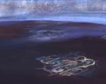 凍れる大地  32.0×41.0cm 紙本着彩 箔