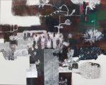 裏道 2016 182.0×227.5cm 紙本着彩 箔 揉み紙 墨 パステル