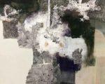 雑華図 91.0×72.5cm 紙本着彩 揉み紙 パステル